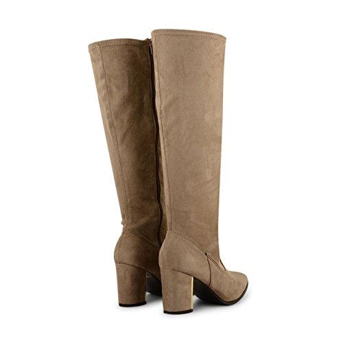 Footwear Sensation - Botas para mujer Marrón - gris (Taupe Suede)