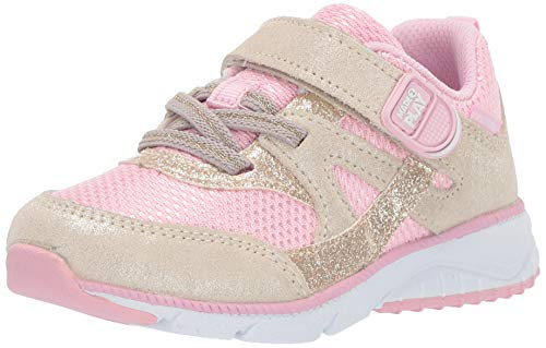 Stride Rite Girls' M2P Ace Sneaker, Champagne, 10 M US Toddler