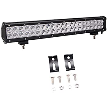"Led Light Bar, Glotech 20"" 126W Cree Offroad Light Bar Spot Flood Combo Beam IP67 Waterproof Super Bright Driving Fog Lights for 4WD Truck ATV UTV Pickup With Mount Bracket"