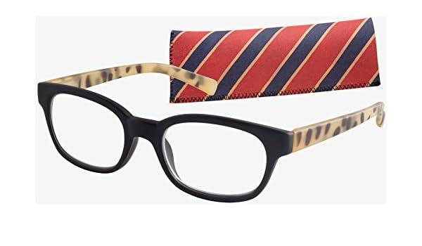 fe335f57bc Amazon.com  ICU Eyewear Bradford Classic Rectangular Eco Friendly  Black Tortoise 2.25  Health   Personal Care