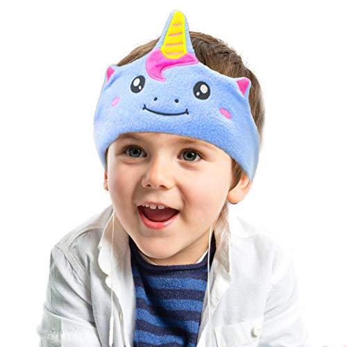 (Kids Headphones, Volume Limiting with Ultra Thin Adjustable Speakers Soft Children Fleece Headband Toddler Headphones for Home and Travel - Unicorn)
