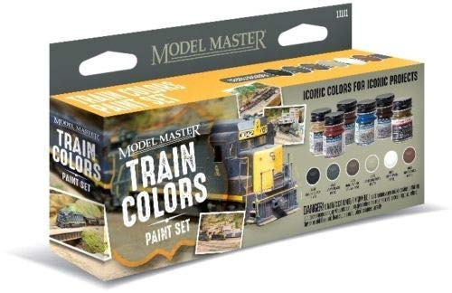 Testors 342300 Model Master Color Paint Set, Train Colors (6)
