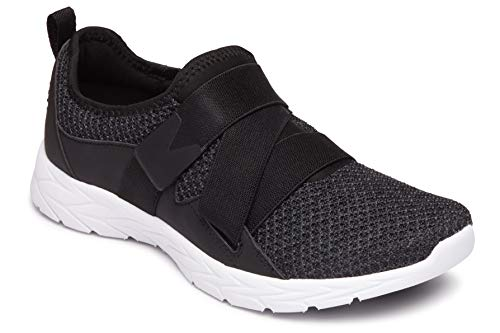 Vionic Women's Brisk Aimmy Walking Shoes - Ladies Athleisure Shoe with Concealed Orthotic Arch Support Black 7.5 M US