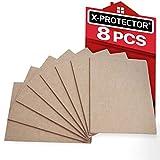 X-PROTECTOR 8 Pack Premium Felt Furniture Pads 8'x6' Heavy Duty 1/5' Felt Sheets! Cut Furniture Felt Pads for Furniture Feet You Need - Best Furniture Pads for Hardwood Floors Protection!