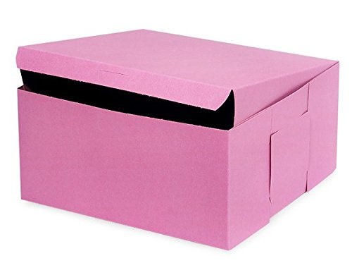 A1BakerySupplies 5 pack Cake Boxes Cake Carry Boxes Disposable Cake boxes (Pink 10 x 10 x 5)