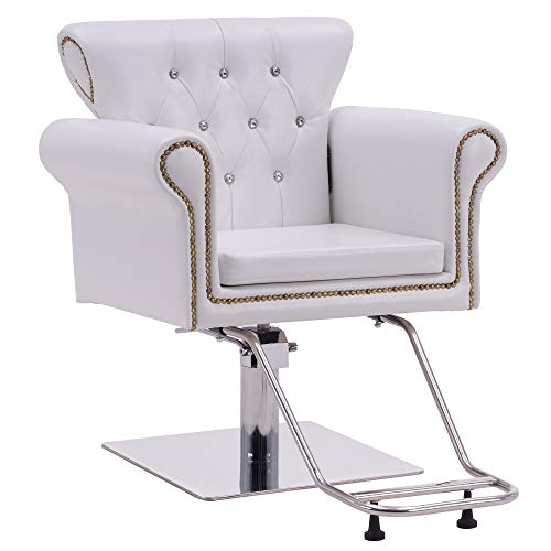 BarberPub Classic Styling Salon Chair for Hair Stylist Antique Hydraulic Barber Chair Beauty Spa Equipment 8899