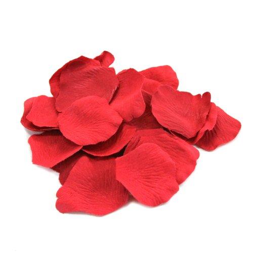 Koyal Wholesale Silk Rose Petals Confetti, Red, Bulk 1200-