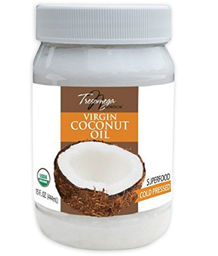 ��Organic Extra Virgin Coconut Oil—A Superfood 100% Cold-Pressed For Cooking, Baking, Health and Beauty—15 oz. Jar ()