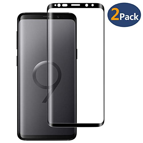 Galaxy S9 Plus Tempered Glass Screen Protector,[2-Pack]-9H Hardness,Anti-Fingerprint,Ultra-Clear, Full Coverage,Bubble  Screen Protector Compatible Galaxy S9 Plus
