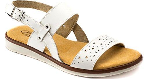TIGLIO MEMORY sandali scalzati da donna art. 4221 bianco