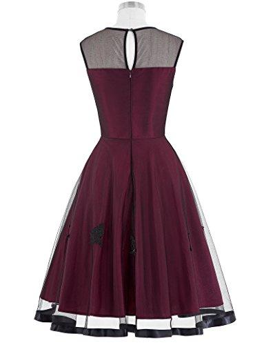 Belle Poque Vintage Style Dress For Women Round Neck Size XL BP112-1