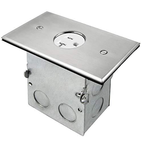 (ENERLITES Screw Cap Cover Floor Box kit, 5