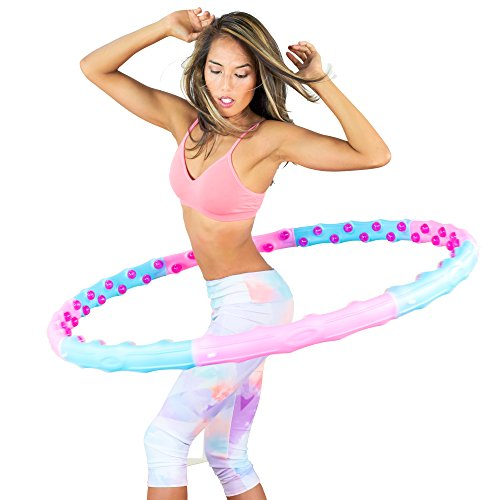 Weighted ION Massage Ball Hula Hoop, For Effective Intense Abdominal Workouts and Quick Fat Burn - For Experienced Hoopers, Diameter 43in / Big-ball Massage Hoop for step 2