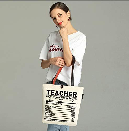 So'each Canvas & Beach Tote Bag Awesome Teacher Gift Graphic Handbag Shoulder Bag