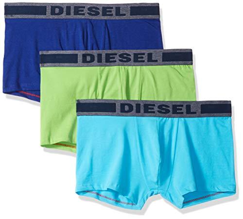 (Diesel Men's UMBX-Shawnthreepack Touch Denim Boxer 3pack, Green/Blue, L)