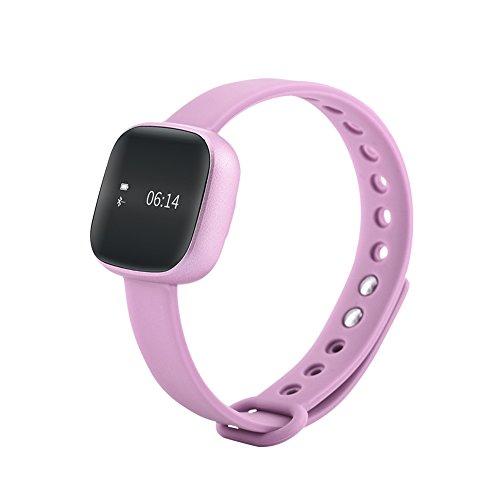 SMART Toch écran podomètre Fitness tracker d'activité Sans fil et le sommeil (Rose)