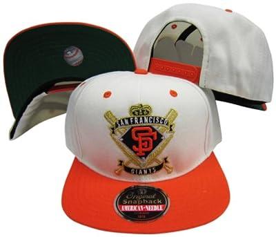 San Francisco Giants Crest Two Tone Plastic Snapback Adjustable Plastic Snap Back Hat/Cap