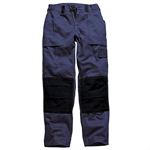 Dickies Grafted Duotone Trousers - Navy/Black - -