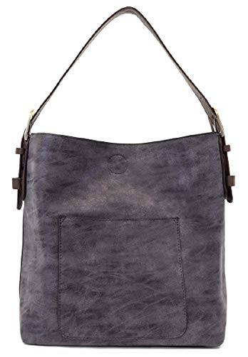 - Joy Susan Classic Hobo Handbag (Navy Lux Brown Handle)