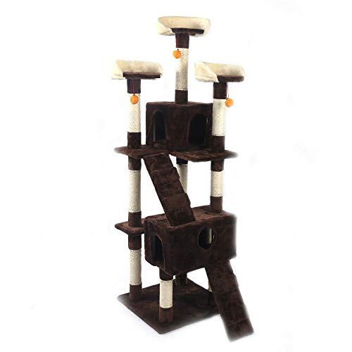 (Chic Lovery 4289 Brown Cat Tree Tower 67