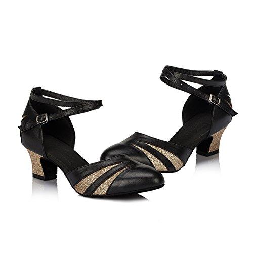 Miyoopark - salón mujer Black/Gold-4.5cm Heel