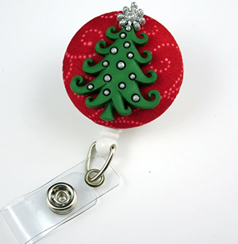 Christmas Tree - Nurse Badge Reel - Retractable ID Badge Holder - Nurse Badge - Badge Clip - Badge Reels - Pediatric - RN - Name Badge Holder