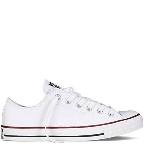 Converse Men's All Star Chuck Taylor M7652 Optical White M7652 Canvas Lo Ox - MEN 5 M US / WOMEN 7 M US