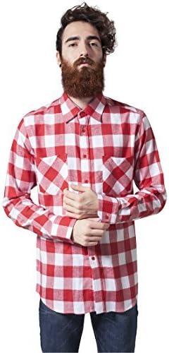 Urban Classics franela a Cuadros Camiseta, Camisa de leñador Para Hombres y niños, Camisa de FRANELA MANGA LARGA CON integrados bolsillos en el pecho: Amazon.es: Ropa y accesorios