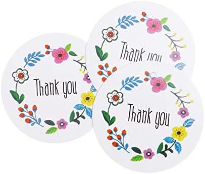 TOYANDONA 100 stücke Danke Geschenkanhänger Papieranhänger Handwerk Hängen Tags Favor Geschenkanhänger Aufkleber für Hochzeit Backen Shop Geschenk Einladung Brief Karte