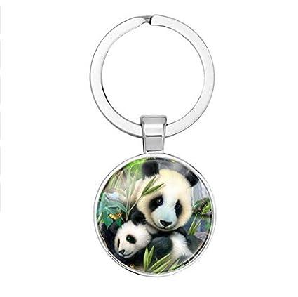 Llavero de oso panda, llavero, joyería de abalorios, llavero ...