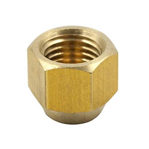 - Legines Brass SAE 45 Degree Flare Tube Fitting, Flare Cap, 3/8