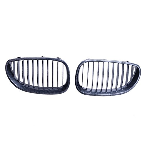 (E60 Grill Carbon Fiber Black Front Kidney ABS Plastic Grill Grille For BMW 5 Sries BMW E60 2003-2009)