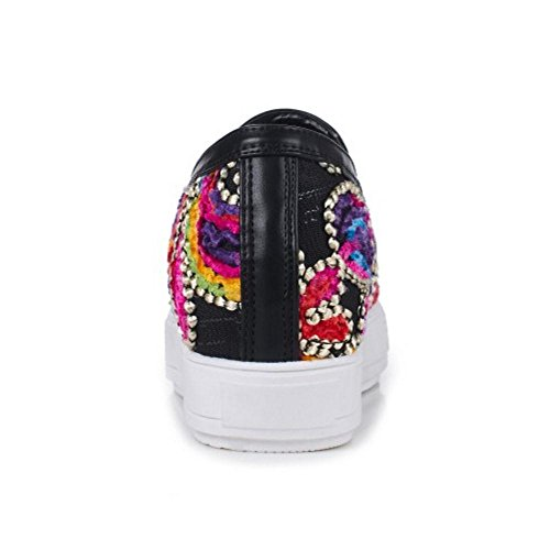 Scarpe Sneaker 2 Zeppa TAOFFEN Black Donna 0q8THWwP