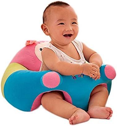 BlueSpace - Cojín para bebé de 6 a 12 meses, asiento de peluche para aprender a sentarse, protector de almohada de animal