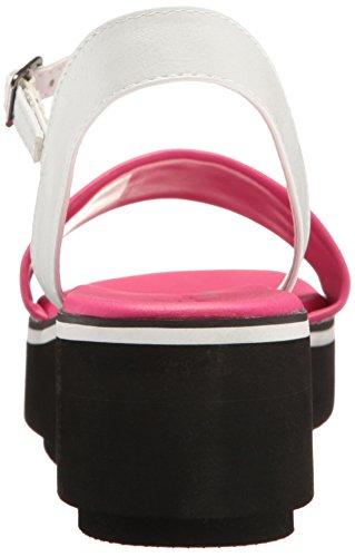 Sandalias Skechers Cali para Mujer, Blanco / Rosa