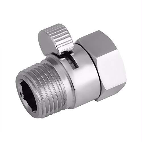 AMZVASO - 100% Brass Flow Control Valve Water Pressure Reducing Controller Hand Held Sprayer Head Shut Off Stop Switch For Shower Supply
