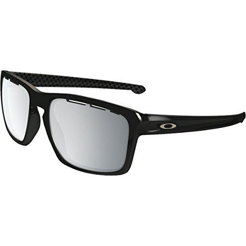 Oakley Men's Sliver (a) Non-Polarized Iridium Rectangular Sunglasses, Polished Black, 57.02 - Oakley Polarized Sliver