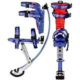 Kids/child Youth Kangaroo Shoes Jumping Stilts Fitness Exercise (88-132lbs/40-60kg) (Black) (blue) by Skyrunner