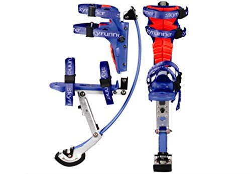 Kids/child Youth Kangaroo Shoes Jumping Stilts Fitness Exercise (88-132lbs/40-60kg) (Black) (blue) by Skyrunner