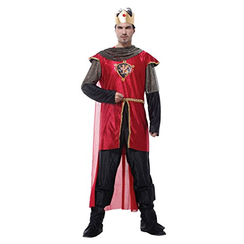 Spooktacular Men's Honorable King Costume Set Halloween party, M for $<!--$34.99-->