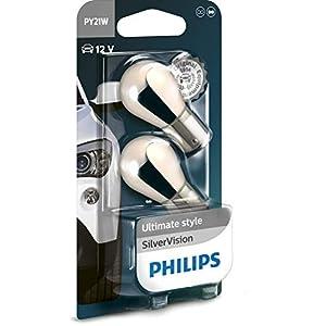 Philips 12496SVB2 12496-SV PY21 Silver Vision (2 x Bulbs)