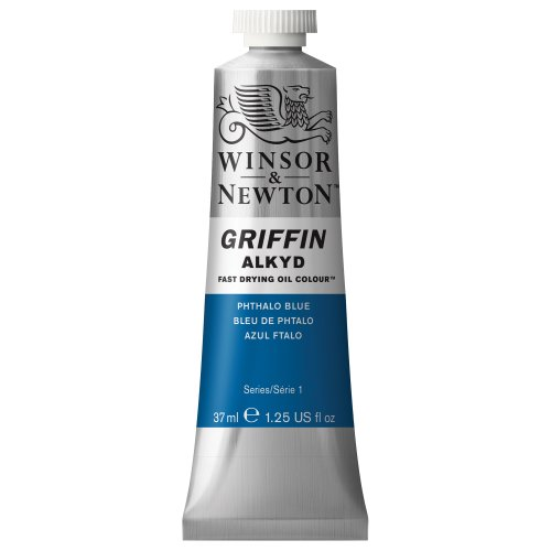 Winsor & Newton Griffin Alkyd Fast Drying Oil Color Tube, Phthalo Blue, 37-ml Tube