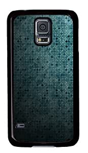 Blue Dots Abstract PC Case Cover for Samsung S5 and Samsung Galaxy S5 Black