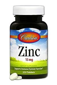 Carlson Labs Zinc, 15mg, 250 Tablets