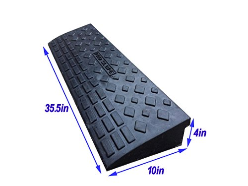Home/&Garden INTBUYING 4 Rubber Loading Dock Rubber Curb Ramps 20 Ton Car Ramp