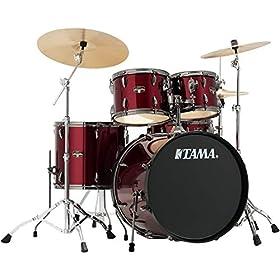 Tama Imperialstar Complete Drum Set - 5-piece - Vintage Red 8