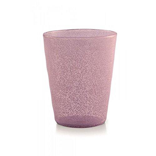 Memento Synth Set 6 Bicchieri Acrilico pulegoso Senza Gambo Pink