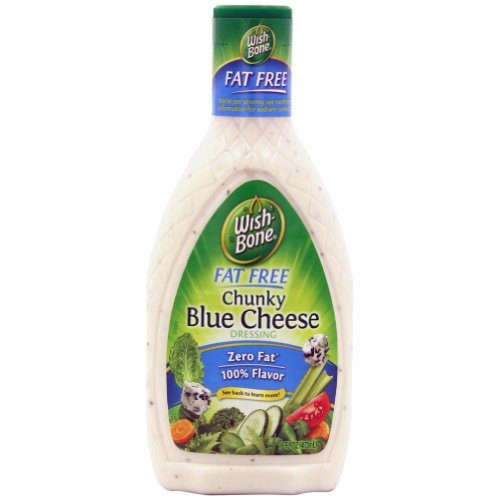 Wishbone Salad Dressing, Fat Free Chunky Blue Cheese, 16-Ounce Bottles (Pack of 2) (Best Chunky Blue Cheese Dressing)