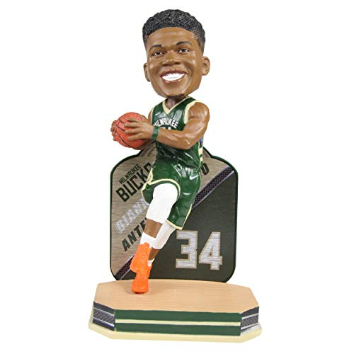 Forever Collectibles Giannis Antetokounmpo Milwaukee Bucks Name and Number Bobblehead NBA