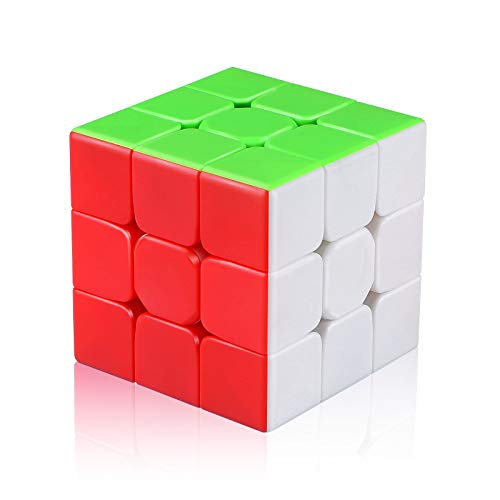 Jurnwey Speed Cube 3x3x3 Stickerless with Cube Tutorial - Turning Speedly Smoothly Magic Cubes 3x3 Puzzle Game Brain Toy for Kids and Adult